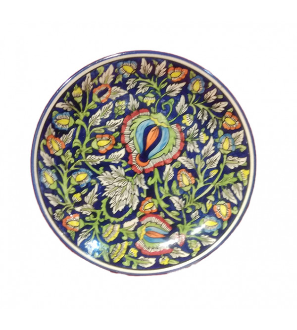 Blue Pottery Full Plate Size 10.5 Inch