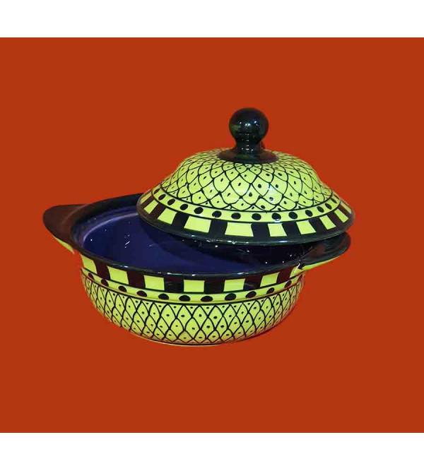 Handcrafted Khurja Pottery Handi Size 7 Inch