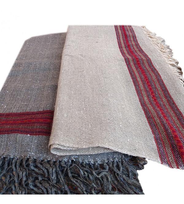 Woolen Gents Big Border Shawls 46x99 Inch