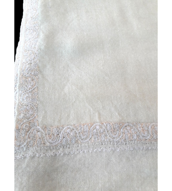 Pashmina Shawl Hand  Embroidered in Kashmir Size,40X80 Inch
