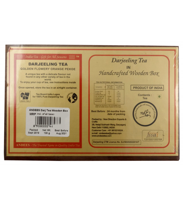 Darjeeling Tea 100gm wooden box