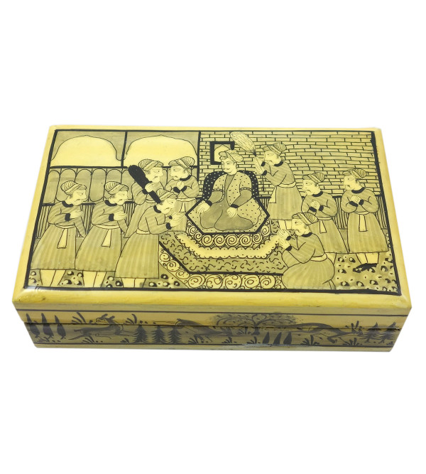 Handicraft Assorted Designs Paper Machie Box 5X3 INCH