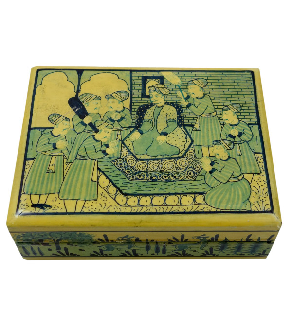 Handicraft Assorted Designs Paper Machie Box 4X3 INCH