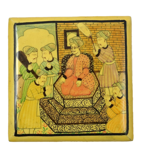 Handicraft Assorted Designs Paper Machie Box 3X3 INCH