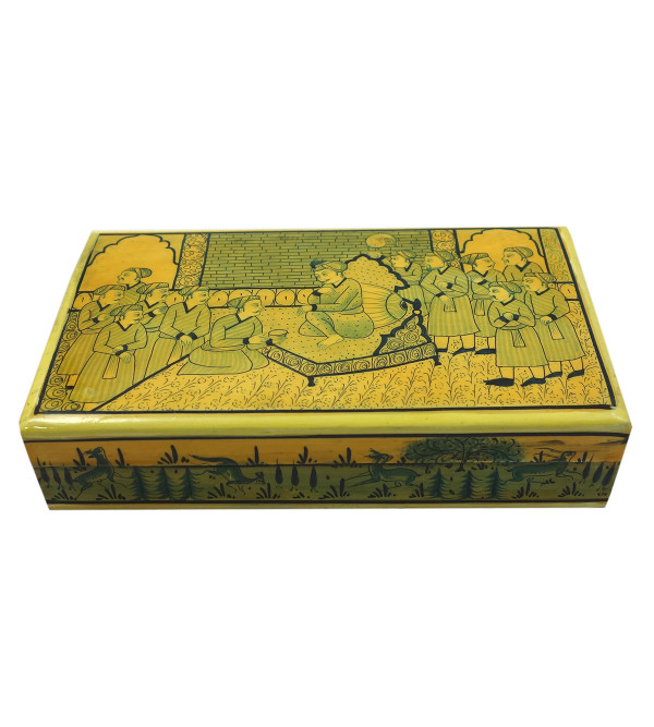 Handicraft Assorted Designs Paper Machie Flat Box 7X4 JAMAWAR  CARPET