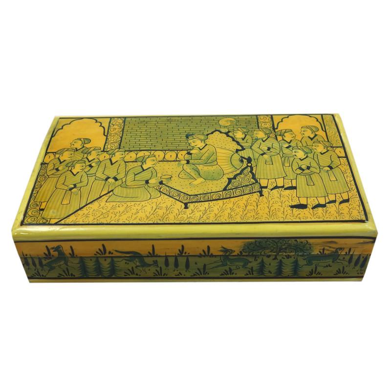 Handicraft Assorted Designs Paper Machie Flat Box 7X4 JAMAWAR  CARPET