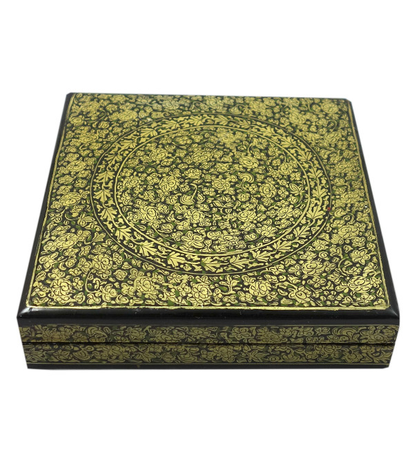 Handicraft Assorted Designs Paper Machie Box 6X6 INCH
