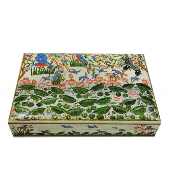 Handicraft Assorted Designs Paper Machie Box 10X7 INCH