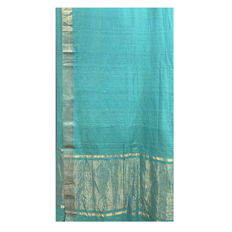 Mangalagiri Handwoven Cotton Saree With Blouse