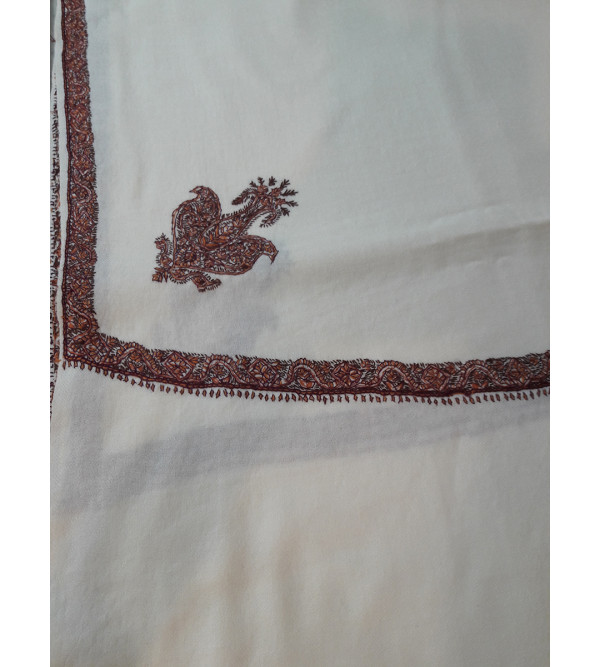 Woollen Gents Shawl Hand Embroidered in Kashmir Size,54X108 Inch