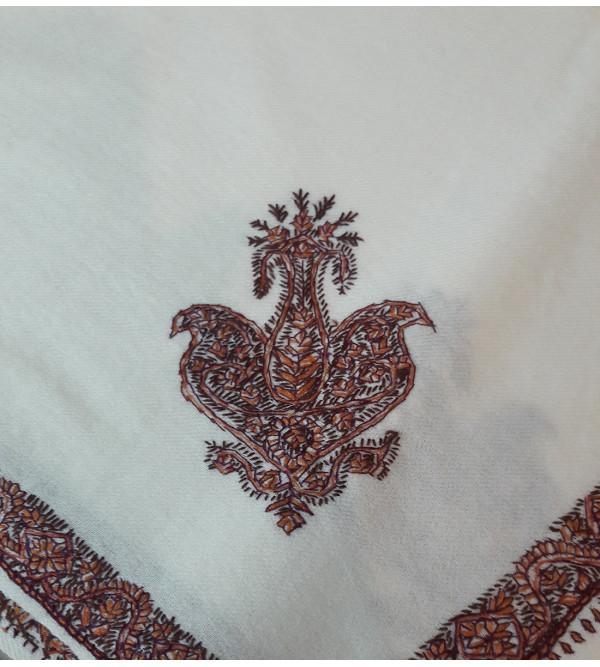 Woollen Gents Shawl Hand Embroidered in Kashmir Size,54X108 Inch