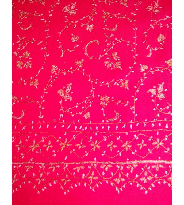 Woollen Stole Fine Needle Work  Size 28 X80 Inch