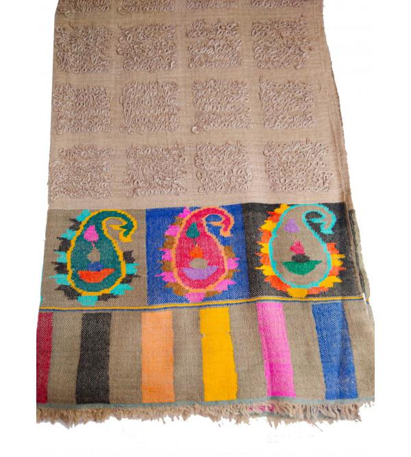 Pure Pashmina Stole Kani Paladar Needless Size 28 X80 Inch