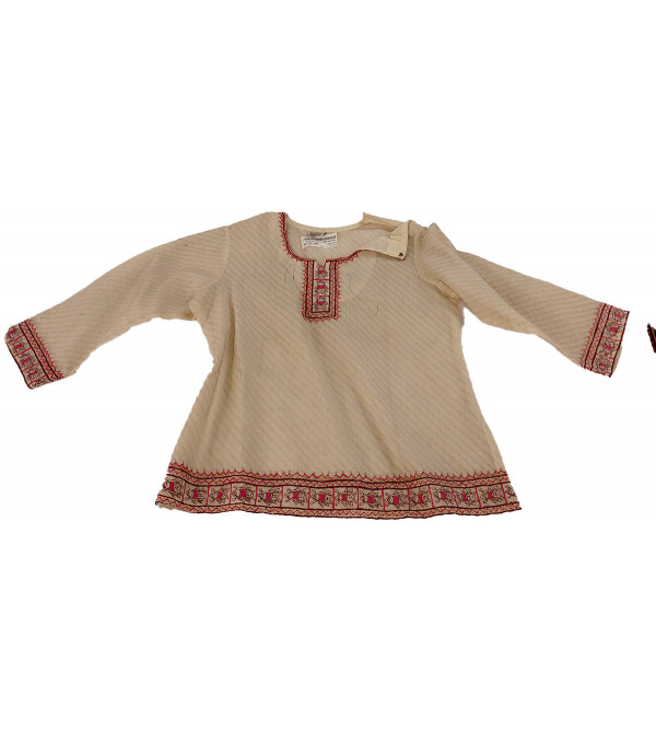 Cotton Hand Woven Top Size 1-2 Year