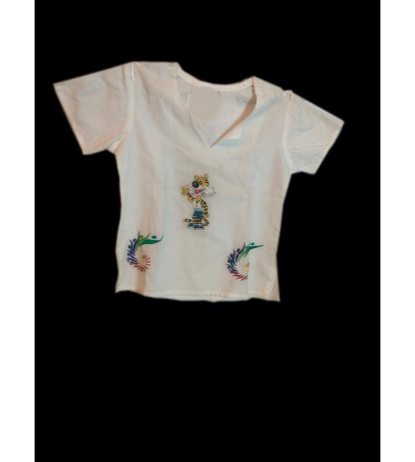 Cotton Hand Woven Kurti Top Free Size