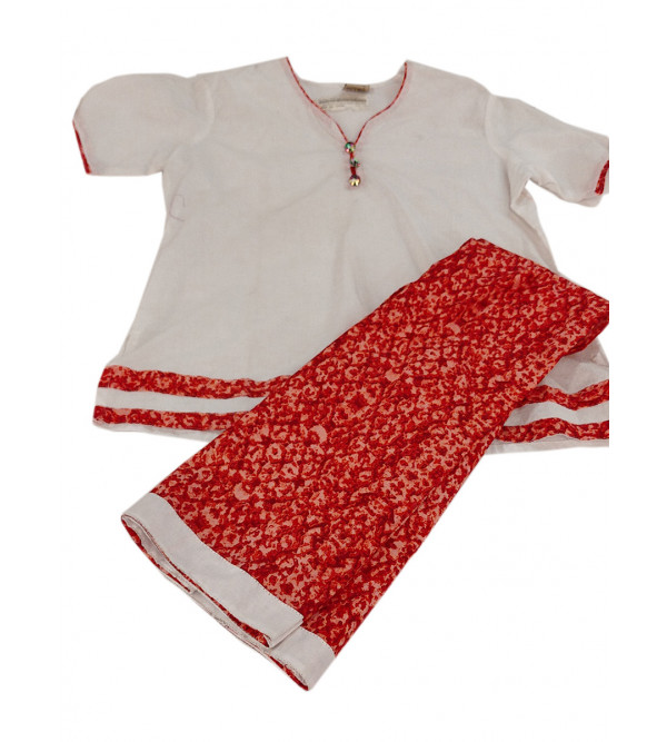 Cotton Kurta Plazzo Set Size 2 to 3 yr