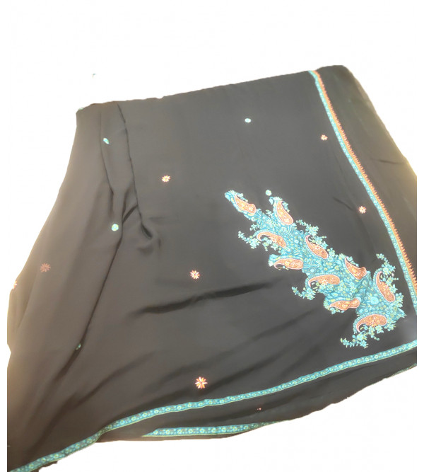 Kashmir Aari Embroidery Saree with Blouse