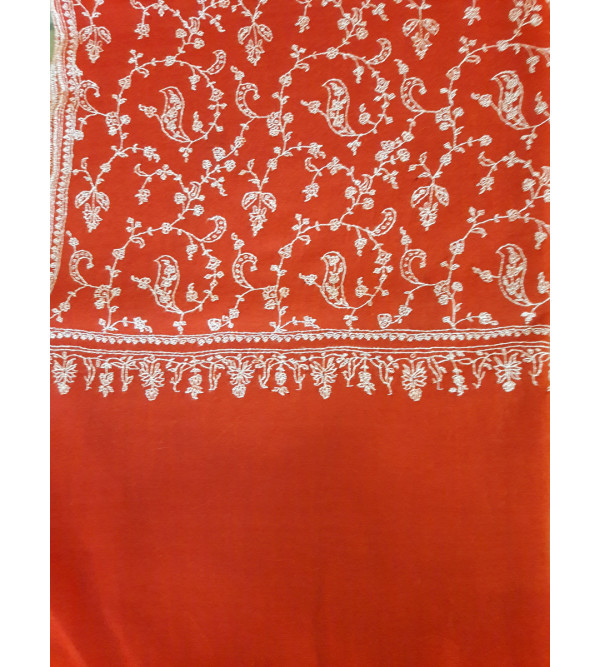 Pashmina Stole Hand Embroidered in Kashmir Size,28X80 inch