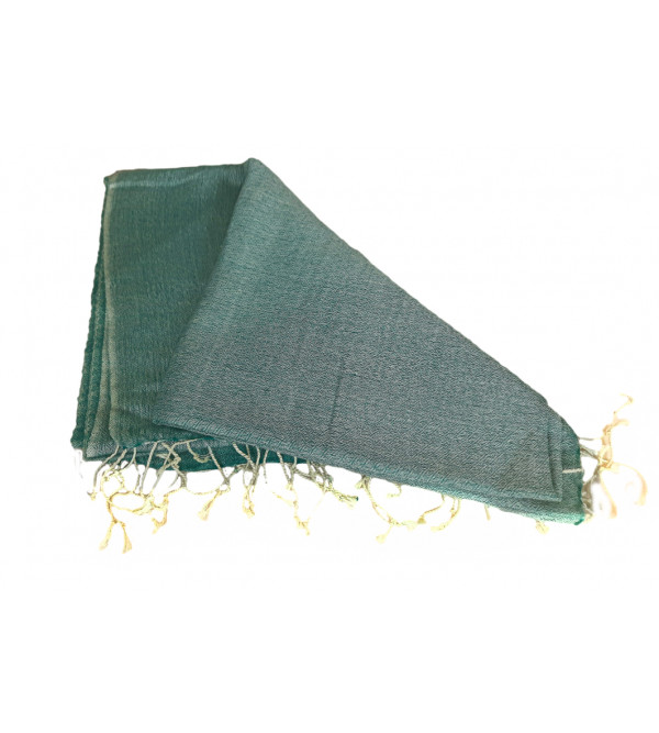 Stole With 50% Silk 50% Wool Size 28X80 Inch