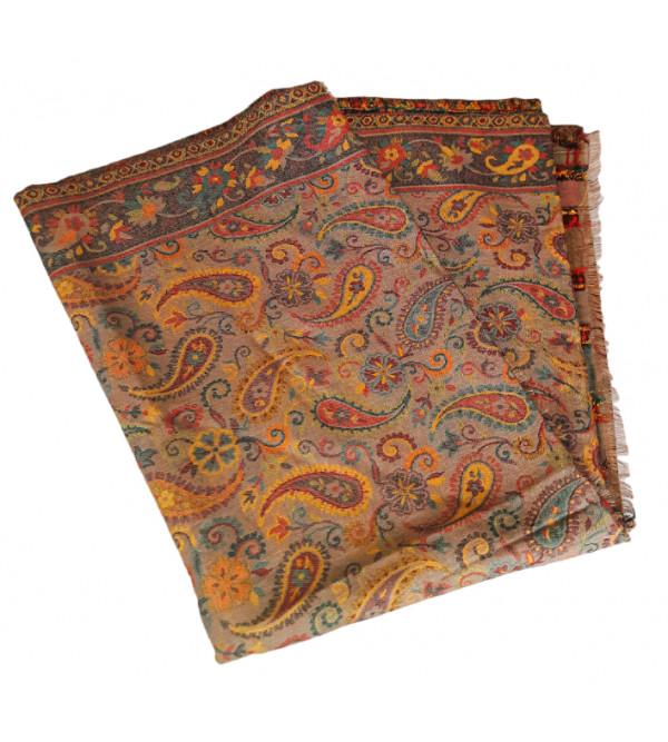 Pure Woolen Jamawar Stole Size 28X80 Inch