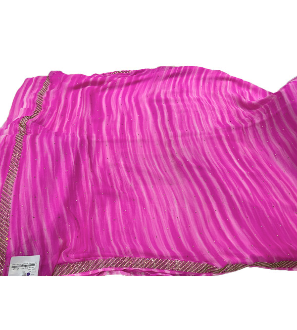 Chiffon Silk Swarovski Work Saree with Blouse