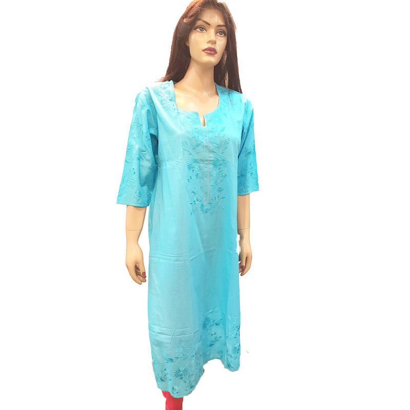 Kurti in Cotton - Hand Embroidered Size M (40 inches)