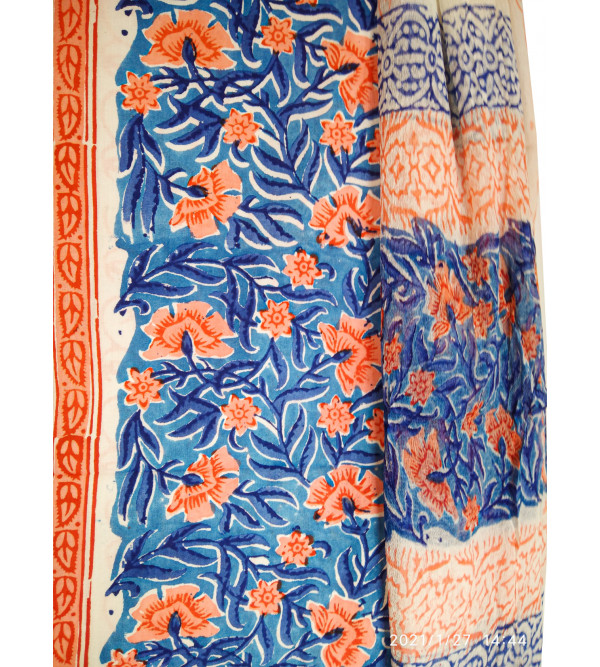 Cotton Hand Block Print Salwar Kurta Dupatta Set