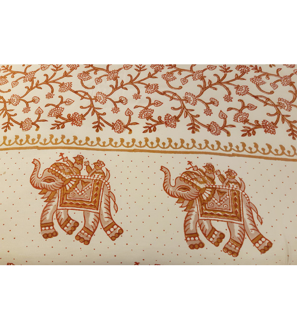 Printed  Cotton Bedcover Size 120x120 Inch