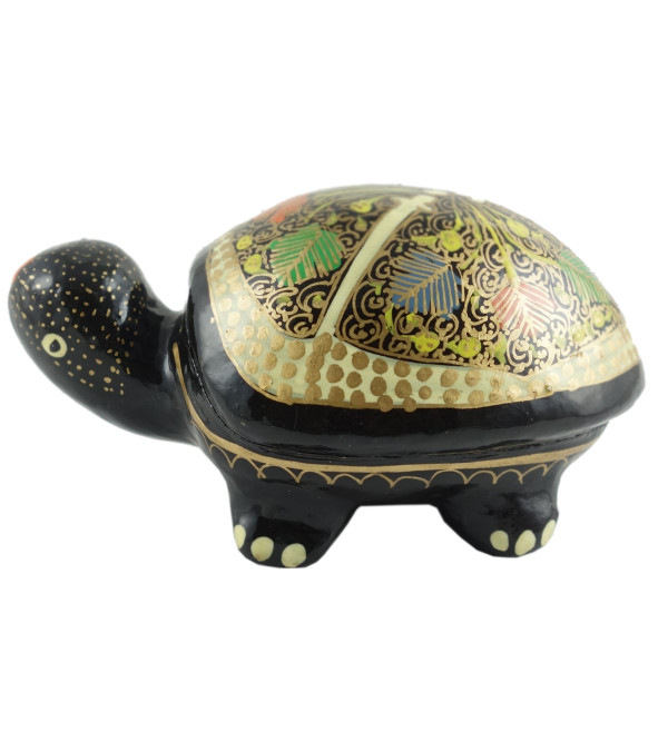 PAPER MACHE Box Tortoise Small 3 INCH ASSORTED COLOR