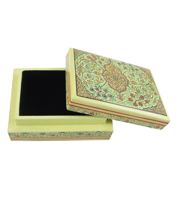 PAPER MACHE FLAT BOX 3X4 INCH ASSORTED DESIGN AND COLOR