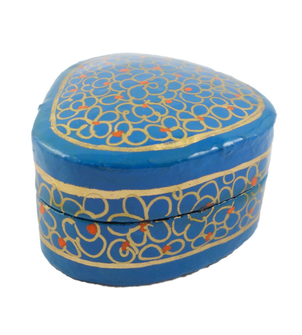 HANDICRAFT PAPER MACHIE ASSORTED RING BOX 2 INCH  ROUND SHAPE