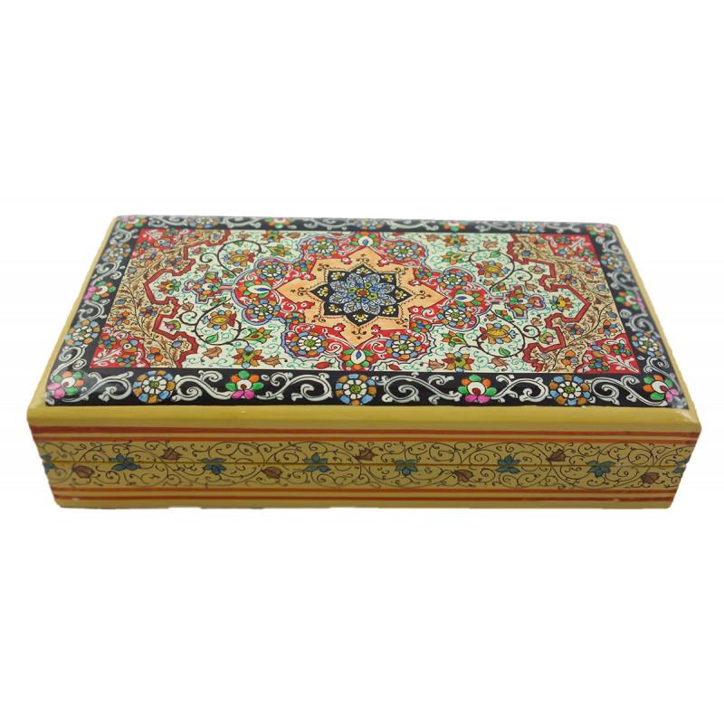Papier Mache Handcrafted Flat Box