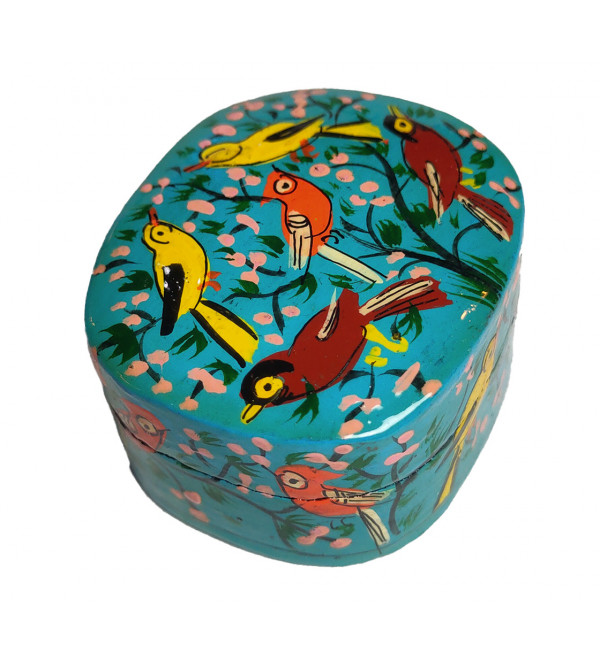 Papier Mache Handcrafted Round Shaped Ring Box