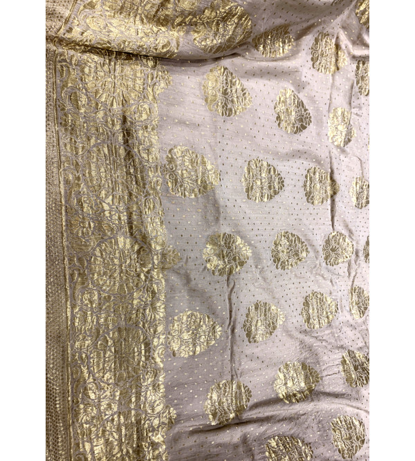 Banaras silk zari buta saree with blouse