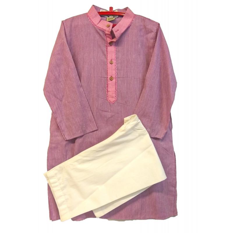 Cotton Woven mangalgiri Kurta pyajama Set Size 2 to 4 Year
