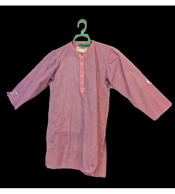 Cotton Woven Mangalagiri Kurta Pyajama Set Size 6 to 8 Year