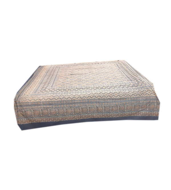 Ajrakh Hand Block Printed Bed Cover Size 90x108 Inch