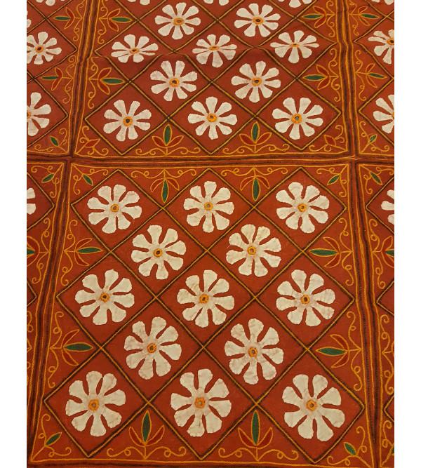 Applique Work Cotton Bedspread Size 90x108 Inch