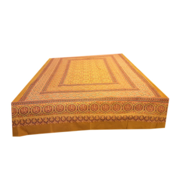 Ajrakh Hand Block Printed Bed Cover Size 60x90 Inch