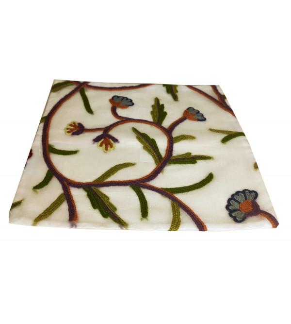 12X12 Inch Silk Cushion Cover Organza Wool Embroidary