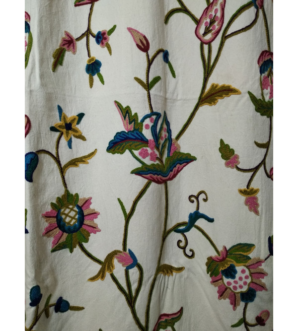 60 INCH CREWEL MULTY EMB RAJASTHAN COTTON CURTAINS