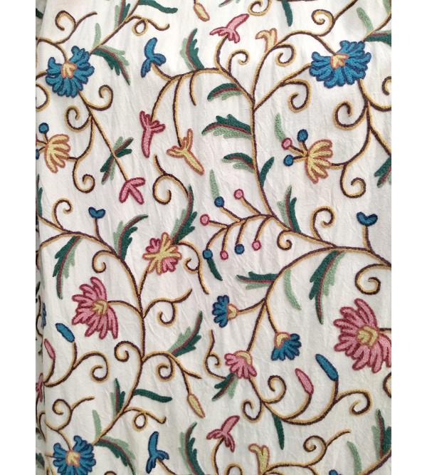 Hand Embroidered Kashmiri Curtain Size 52x100 Inch