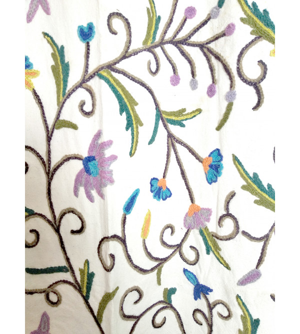 Crewel Hand Embroidered Curtain from Kashmir Size 52x100 Inch