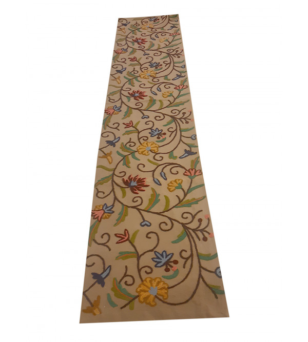 13X72 INCH RUNNER COTTON HAND EMB. WOOL KASHMIR