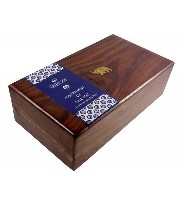120 TEA BAGS IN WOODEN BOX ASSORTED