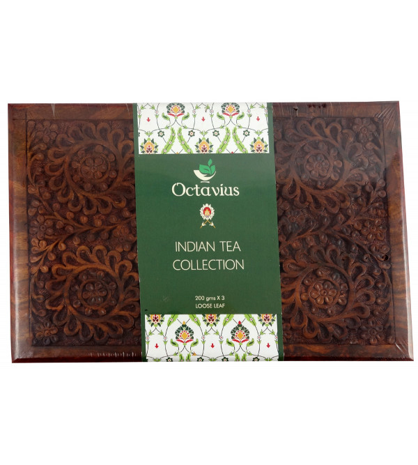 WOODEN BOX TEA 200 GM DARJEELING AND NILGIRI ASSORTED