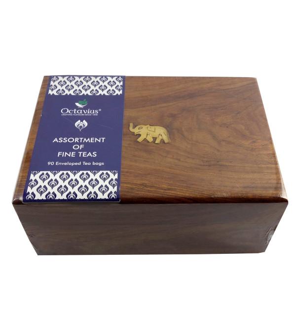 120 Tea Bags In Wooden Box Assorted