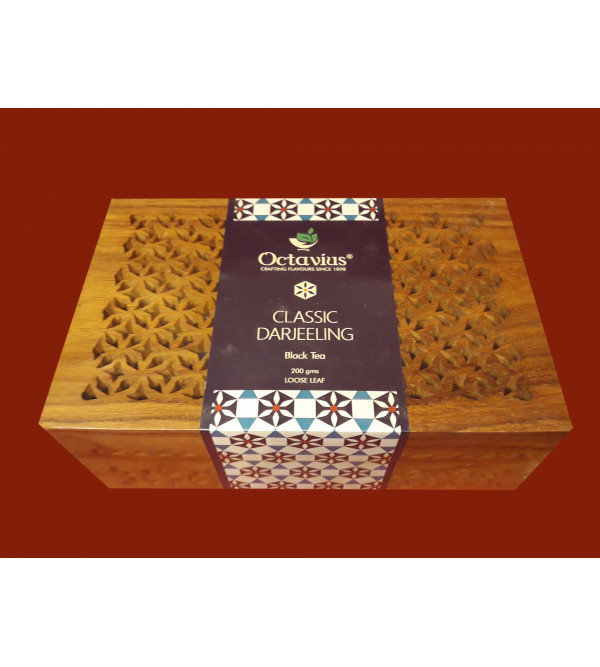 Darjeeling Tea In Wooden Box 200 gm