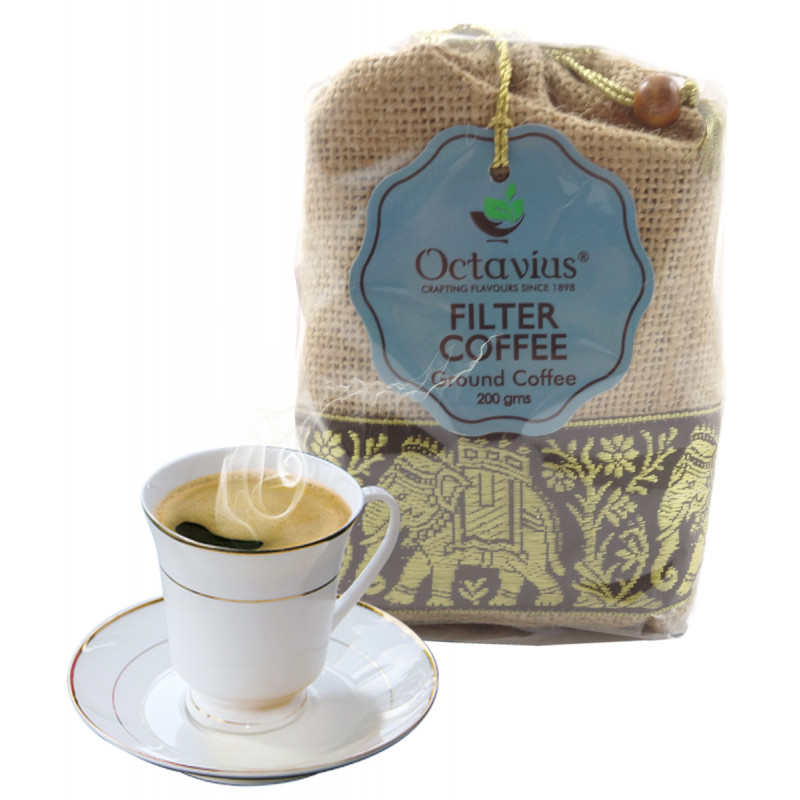 FILTERED SOUTH INDIAN COFFEE IN JUTE GIFT BAG 250 GMS