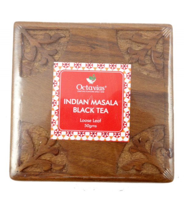 INDIAN MASALA CHAI IN WOODEN GIFT BOX50 GMS